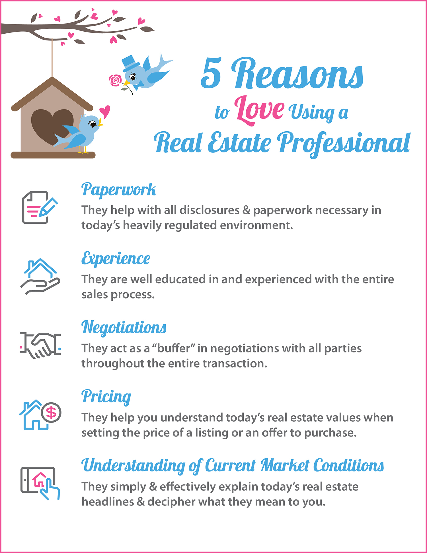 5 Reasons to Love Using A RE Pro [INFOGRAPHIC] | Simplifying The Market