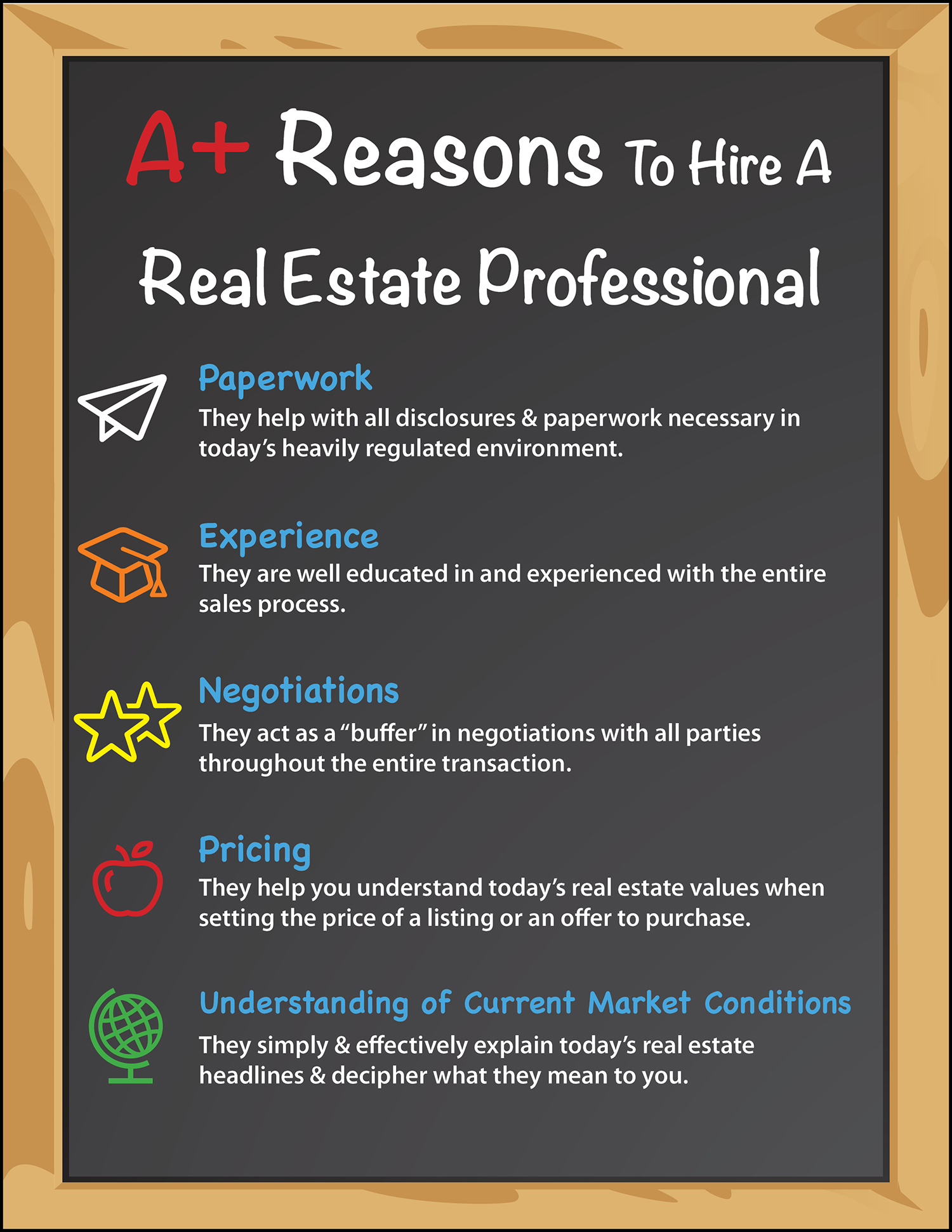 Top 5 A  Reasons to Hire a Real Estate Pro [INFOGRAPHIC] | Simplifying The Market