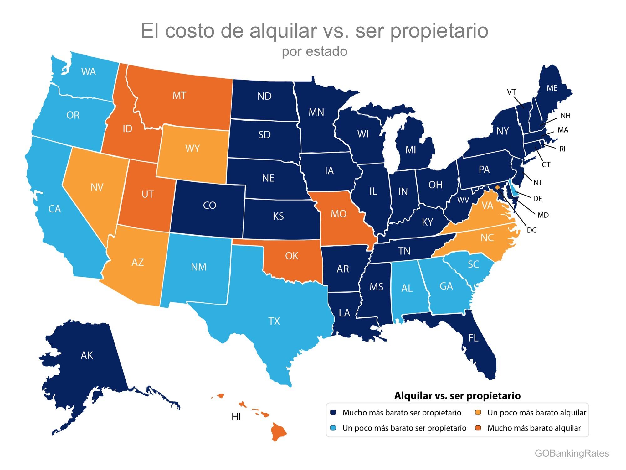 ¡Comprar sigue siendo más barato que alquilar en 39 estados! | Simplifying The Market